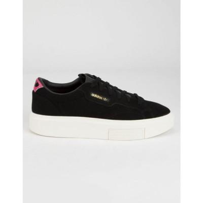 アディダス ADIDAS レディース スニーカー シューズ・靴 Sleek Super Black Shoes BLACK COMBO