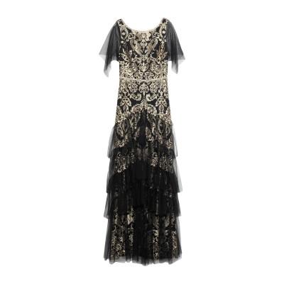 マルケッサ・ノッテ MARCHESA NOTTE ロングワンピース&ドレス ブラック 4 ナイロン 100% / 金属 ロングワンピース&ドレス