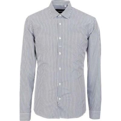 コストメイン COSTUMEIN メンズ シャツ トップス striped shirt Dark blue