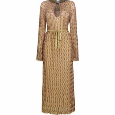 ミッソーニ M MISSONI レディース ワンピース ワンピース・ドレス Long Dress Gold