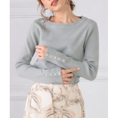 DONOBAN / シェルボタンリブニット WOMEN トップス > ニット/セーター