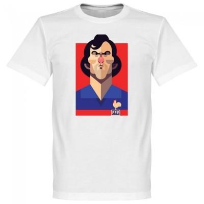 フランス代表 ミシェル・プラティニ Tシャツ SOCCER プレイメーカー ホワイト