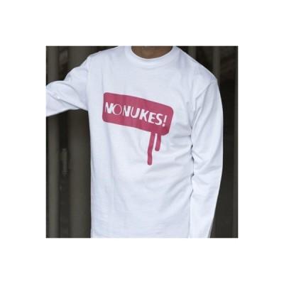ストリートデザイン NO NUKES(脱原発) 長袖Tシャツ Tシャツ 長袖 メンズ 5.6オンス オリジナル