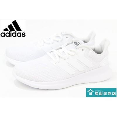 白靴 通学靴 アディダス スニーカー adidas FALCONRUN M G28971 WHITE