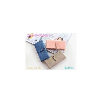 長財布ロングウォレットパステルシンプルレディース可愛いかわいいおしゃれお洒落カードケースお札入れウォレット