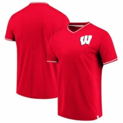 Fanatics Branded ファナティクス ブランド スポーツ用品  Fanatics Branded Wisconsin Badgers Red True Classics V-N