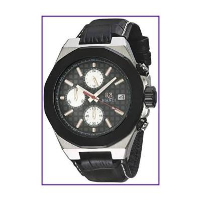 ROBERTO BIANCI WATCHES Men's Fratelli Stainless Steel Quartz Leather Calfskin Strap, Black, 22 Casual Watch (Model: RB0131) 並行輸入