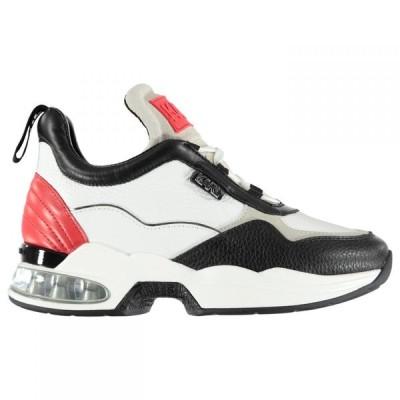 カール ラガーフェルド Karl Lagerfeld レディース スニーカー シューズ・靴 Ventura Mid Trainers White Lthr/Red