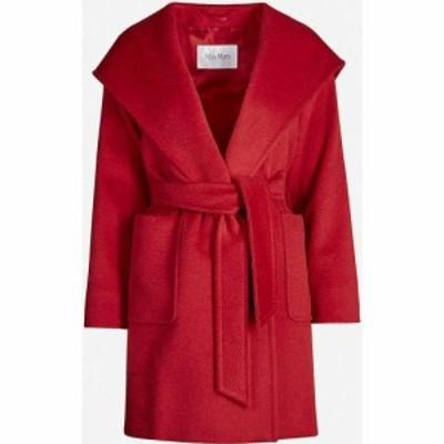 マックスマーラ MAX MARA レディース コート フード アウター Rialto hooded camel hair coat RED