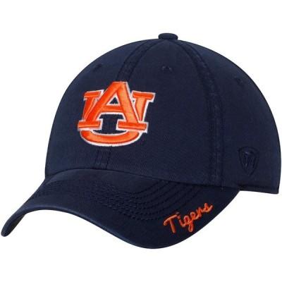 トップ・オブ・ザ・ワールド 帽子 アクセサリー レディース Auburn Tigers Top of the World Women's Crew Adjustable Hat Navy