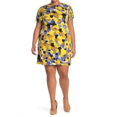 タッシュプラスソフィー レディース ワンピース トップス Printed A-Line Dress YELLOW MUL