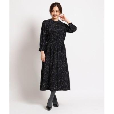 SunaUna/スーナウーナ 【洗える】ボタンギャザーワンピース ブラック(119) 36(S)