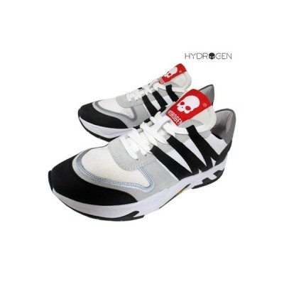 ハイドロゲン HYDROGEN メンズ 靴 スニーカー ロゴ ビブラムソール使用 タン部分スカルロゴ入りスニーカー 白 253700 001 (R63800) 91A