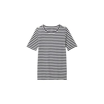 J.Crew Slim Perfect T-Shirt in Stripe レディース シャツ トップス Navy/Ivory