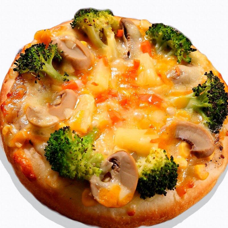 瑪莉屋口袋比薩pizza【椰菜鮮菇披薩(薄皮)】薄皮/奶素/餅皮無洋蔥/一入