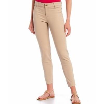 カルバンクライン レディース カジュアルパンツ ボトムス Stretch Twill Cotton-Blend 4-Pocket Twill Pants Latte
