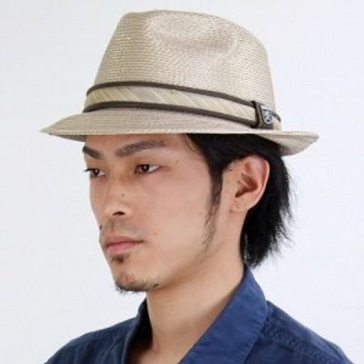 メンズファッションアイテム 帽子 ハット 中折れ帽 ストロー ポリブレード 光沢 ステイシーアダムス ゴールド ベージュ