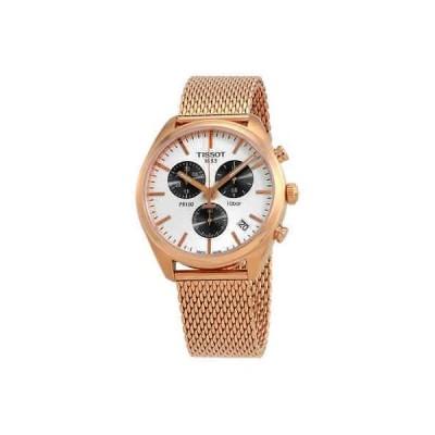 腕時計 ティソット メンズ Tissot PR 100 Chronograph Silver Dial Men's Watch T101.417.33.031.01