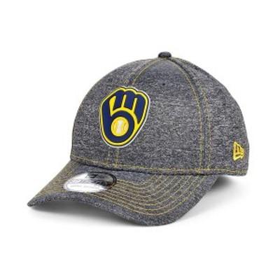 ニューエラ メンズ 帽子 アクセサリー Men's Milwaukee Brewers South Club 39THIRTY Cap Gray