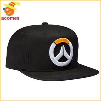 オーバーウォッチ 帽子 ロゴ キャップ ブラック スナップバック ハット テレビゲーム