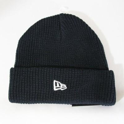 ニューエラ NEWERA 帽子 ソフトカフニット コットン ネイビー
