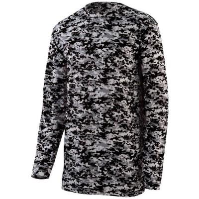 ユニセックス 衣類 トップス Augusta DIGI CAMO WICKING LS T-SHIRT BK DIGI M Tシャツ