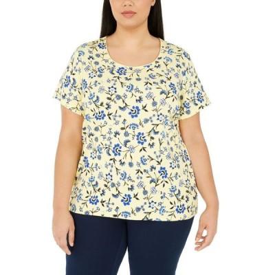ケレンスコット レディース シャツ トップス Plus Size Printed Scoop-Neck T-Shirt