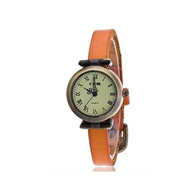 【新品・送料無料】Cooki女性用クォーツ腕時計ローマ数字アナログレトロレディース腕時計ガールズ腕時計シンレザークリアランスメスwatches-a91 2cm x2cm