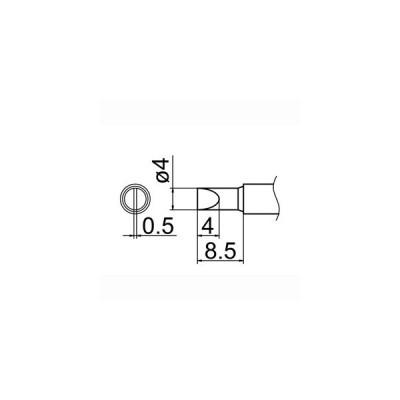 【メール便選択可】白光 T12-D4 4D型 T12シリーズ交換こて先 HAKKO