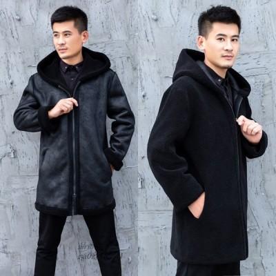 ロングコート おしゃれ アウター 暖かい 冬物 防寒 長袖 フェイクファー 上着 防風 ジャケット 人気 コート メンズ 上質 ファーコート 毛皮コート