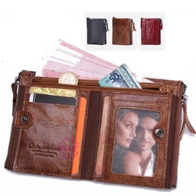 財布 メンズ 本革 二つ折り 牛革 カード入れ 小銭入れ 大容量 彼氏 父の日 サイフ さいふ