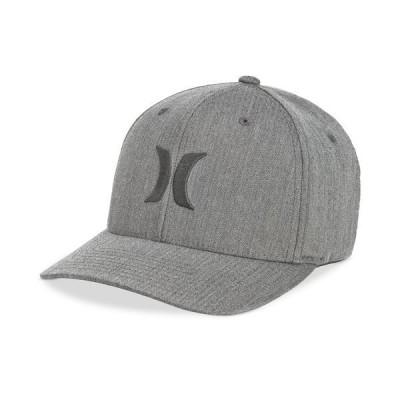 ハーレー 帽子 アクセサリー メンズ Men's One And Only Texture Flexfit Logo Hat Grey