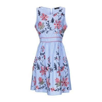 MANGANO ミニワンピース&ドレス アジュールブルー L ポリエステル 100% ミニワンピース&ドレス