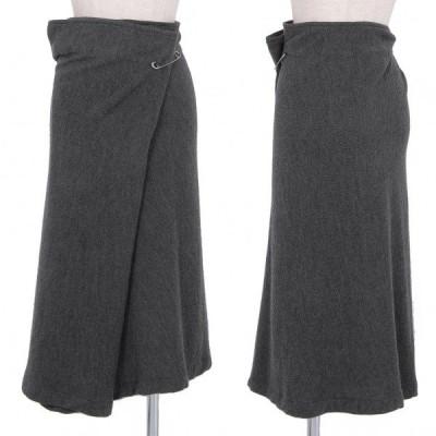 ワイズY's ウールニットピン留めワイドスカート グレー3 【レディース】