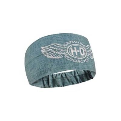 帽子 ハーレーダビッドソン Harley-Davidson Women's Winged In Fight Headband Scrunchie, Steel Blue HE31727