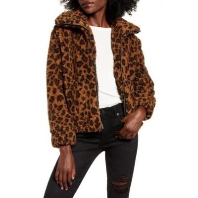 ビービーダコタ レディース ジャケット&ブルゾン アウター Leopard Print Faux Shearling Jacket COCO