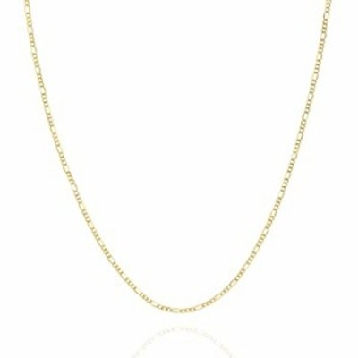 Jewelry Atelier Gold Chain Necklace Collection - 14K Solid Yellow Gold Filled Figaro Chain Necklaces for Women and Men with Diff
