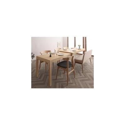北欧デザイン スライド伸縮テーブル ダイニングセット SORA ソラ 6点セット(テーブル+チェア4脚+ソファベンチ1脚) W135-235