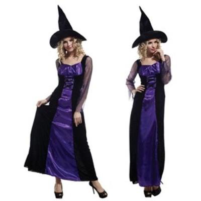 ハロウィーン Halloween コスプレ ワンピース 魔女 コスチューム 仮面舞踏会 ステージ衣装 レディースパーティー用仮装 ハロウィーン