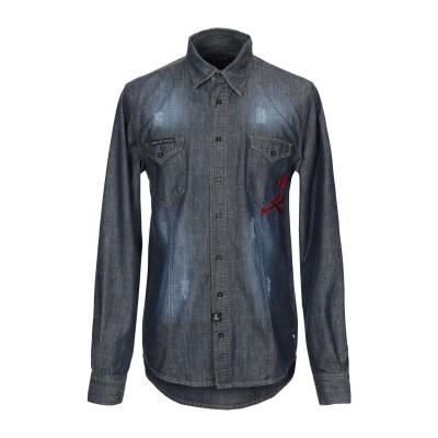 PHILIPP PLEIN デニムシャツ ブルー XL コットン 100% デニムシャツ