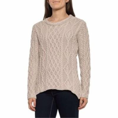 ペレグリン Peregrine レディース ニット・セーター トップス Tan Aran Cable Neck Jumper Sweater - Merino Wool Tan