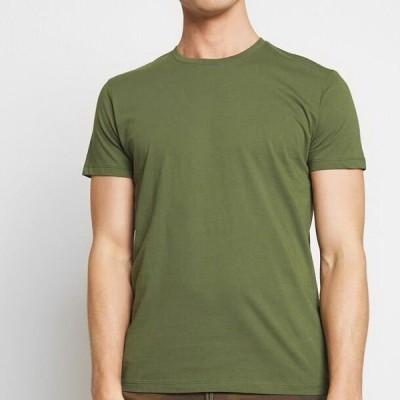 エスプリ メンズ ファッション Basic T-shirt - khaki green