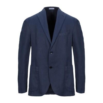 ボリオリ BOGLIOLI テーラードジャケット ブルー 54 コットン 52% / 麻 48% テーラードジャケット