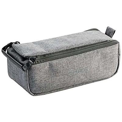 ポーチ バッグインバッグ アクセサリ/ガジェット収納 BOXタイプ 自由な仕切り付き Mサイズ グレ