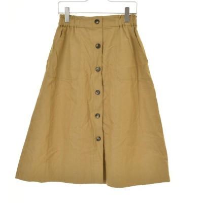 Couture brooch anatelier / クチュールブローチアナトリエ フロントボタンミディスカートロング スカート