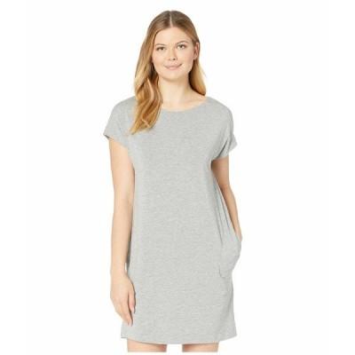 ハンロ ナイトウェア アンダーウェア レディース Natural Elegance Short Sleeve Gown Grey Melange
