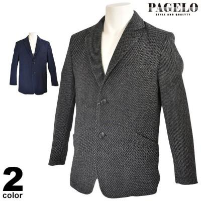 セール 70%OFF PAGELO パジェロ テーラードジャケット メンズ 秋冬 ツーボタン シンプル ロゴ 95-4108-07