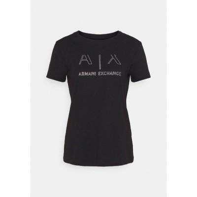 アルマーニエクスチェンジ Tシャツ レディース トップス Print T-shirt - black