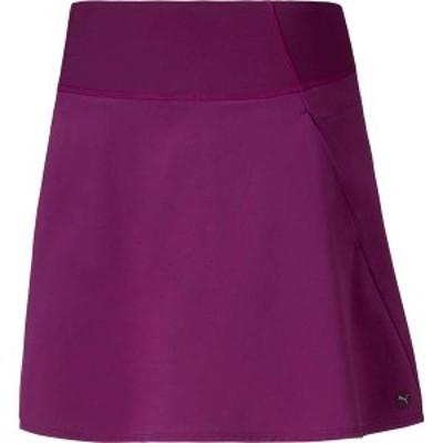 プーマ レディース スカート ボトムス PUMA Women's Woven PWRSHAPE Golf Skort Dark Purple