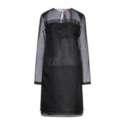 ヌメロ ヴェントゥーノ N°21 ミニワンピース&ドレス ブラック 38 シルク 100% ミニワンピース&ドレス